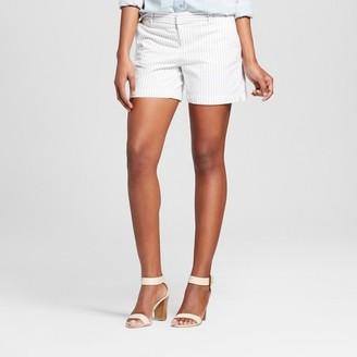 "Merona Women's 5"" Navy Stripe Chino Shorts - Merona Navy Stripe $19.99 thestylecure.com"