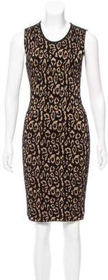 Lanvin Leopard Jacquard Sleeveless Dress