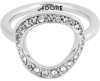 Adore Organic Crystal Circle Ring