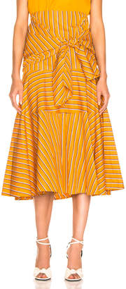 02e9f02dba54f1 Silvia Tcherassi Fucsia Skirt in Apricot Stripes | FWRD