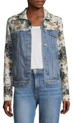 Paige Harrison Floral& Denim Jacket