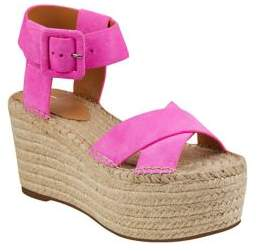 Marc Fisher Randall Leather Wedge Espadrilles