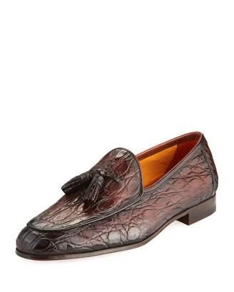Magnanni Men's Claudio Crocodile & Leather Slip-On