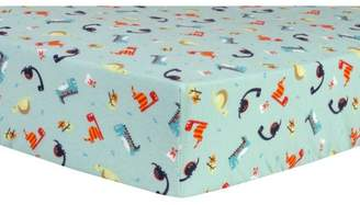 Trend Lab Deluxe Flannel Dinosaurs Fitted Crib Sheet