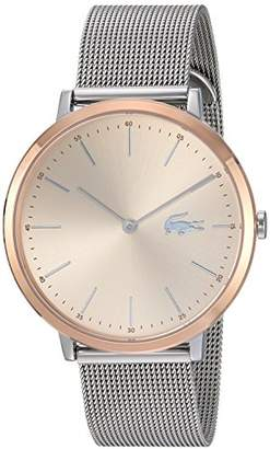Lacoste Women's 'Moon Ultra Slim' Quartz Gold and Stainless Steel Casual Watch