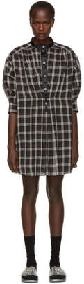 Marc Jacobs Black and White Plaid Drop Shoulder Dress