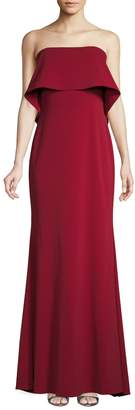 Badgley Mischka Strapless Popover Gown