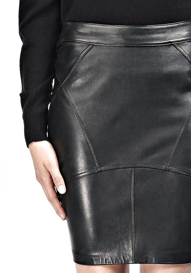 Alexander Wang Lightweight Leather Back Flutter Skirt
