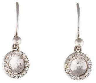 Gurhan 18K Diamond Small Hourglass Drop Earrings