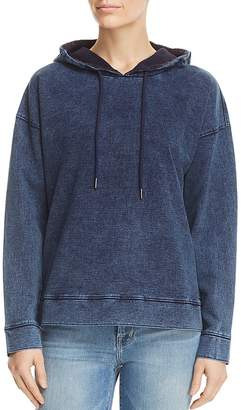 Andrew Marc Denim Wash French Terry Hoodie