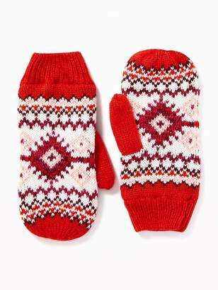 Old Navy Sweater-Knit Mittens for Women