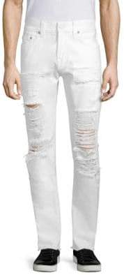 True Religion Rocco Slim-Fit Distressed Cotton Jeans