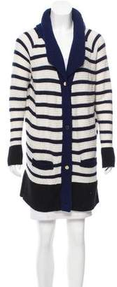 The Row Striped Button-Up Cardigan