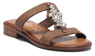 Italian Shoemakers Reza Crystal Embellished Slide Sandal