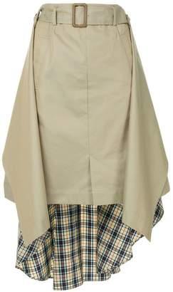 Puma Maison Yasuhiro contrast material skirt