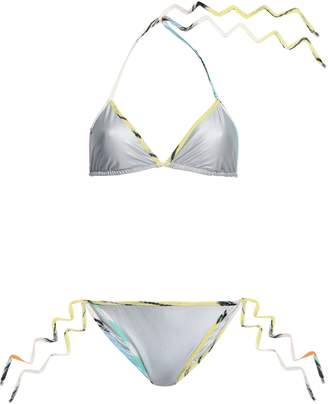 Missoni Mare Crochet-trimmed Metallic Triangle Bikini