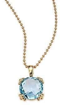 Anzie Anzie Women's Dew Drop Sky Blue Topaz& 14K Yellow Gold Pendant Necklace