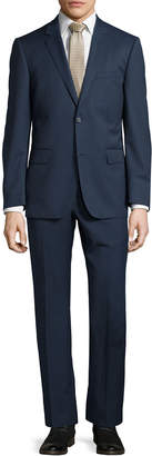 Neiman Marcus Modern-Fit Two-Button Two-Piece Suit, Navy