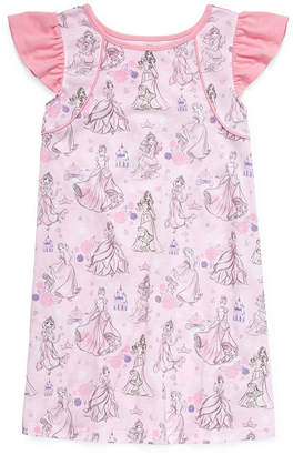Disney Short Sleeve Round Neck Minnie Mouse Jersey Nightshirt - Girls