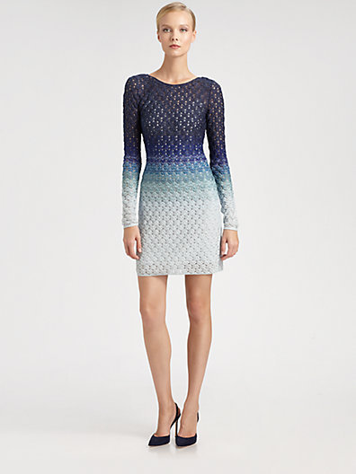 Ombré Lurex Knit Dress