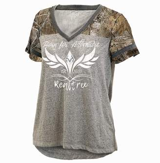"""Women's Realtree """"Born For Adventure"""" Oversized Graphic Tee"""