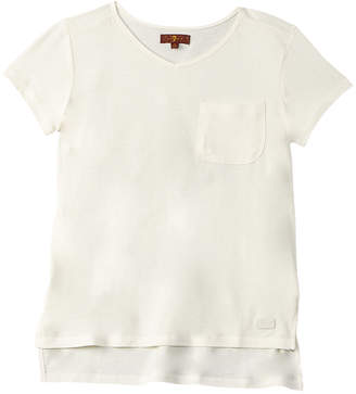 7 For All Mankind Seven 7 Girls' High Low Tee