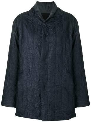 Plantation crinkled loose bomber jacket