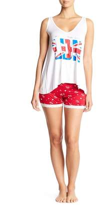 Couture Curvy London Tank Top & Shorts Pajama Set