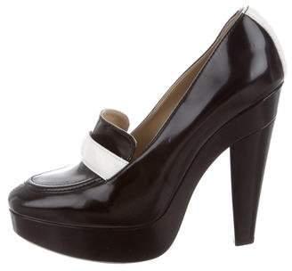 Stella McCartney Vegan Leather Loafer Platform Pumps