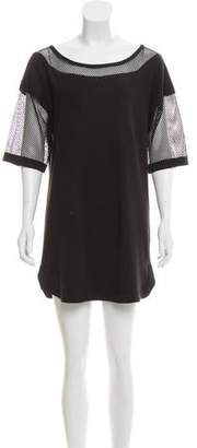 Robert Rodriguez Mesh-Paneled Shift Dress