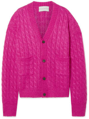 Matthew Adams Dolan - Oversized Cable-knit Mohair-blend Cardigan - Pink
