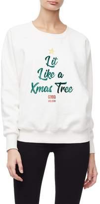 Good American Lit Like a Christmas Tree - Off White001