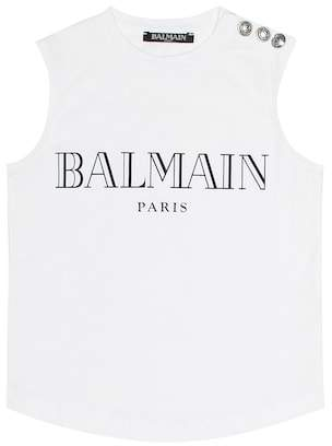 Balmain Kids Embellished cotton top
