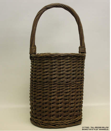 DestiDesign Tall Round Willow Basket