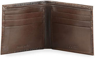 Joe's Jeans Men's Hipster Crocodile-Print Leather Bi-Fold Wallet