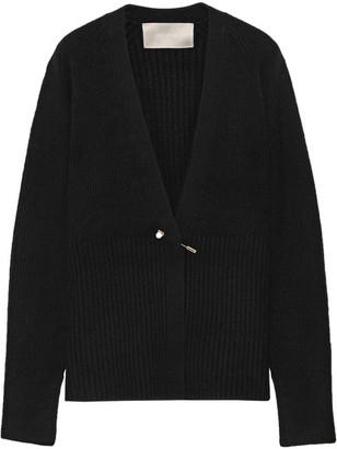Jason Wu - Embellished Ribbed-knit Cardigan - Black $1,395 thestylecure.com