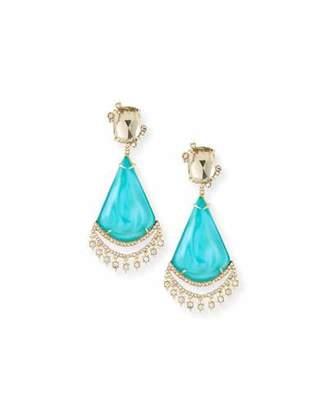 Alexis Bittar Crystal Lace Liquid Chandelier Earrings
