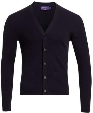 Ralph Lauren Purple Label Rib-Knit Merino Wool Cardigan