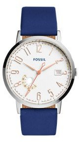 Fossil Women's ES3989 Vintage Muse Indigo-Dyed Leather Watch $105 thestylecure.com