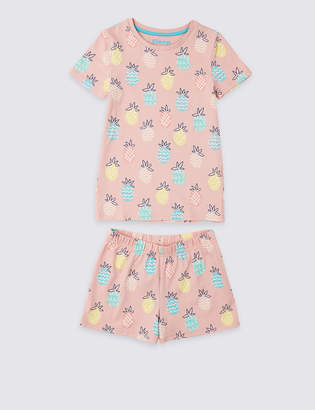 Marks and Spencer Cotton Short Pyjamas with Stretch (3-16 Years)