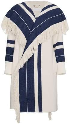 Chloé Striped blanket coat