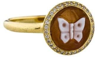 Ippolita 18K Diamond & Shell Cameo Ring w/ Tags