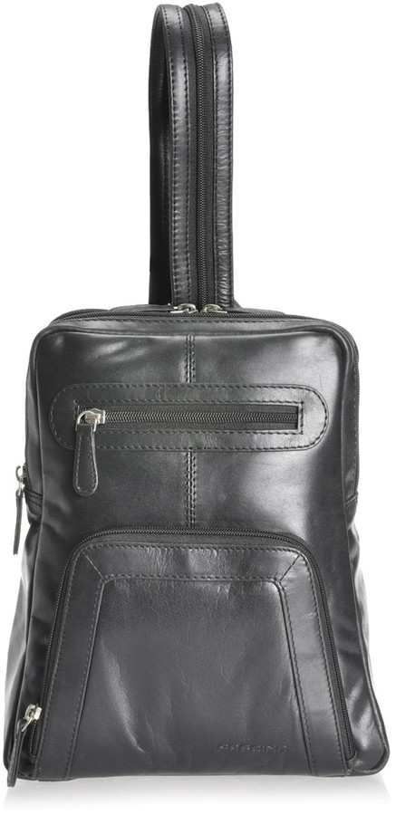 Fascino Dacey leather backpack with zip apart straps