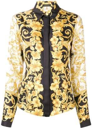 Versace Baroque flower print shirt