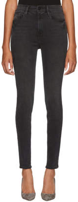 Frame Black High Skinny Jeans