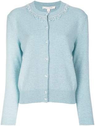 Marc Jacobs beaded crew neck cardigan