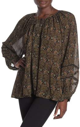Scotch & Soda Voluminous Sheer Patterned Blouse