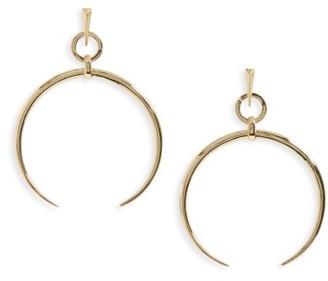 Women's Luv Aj Crescent Hoop Earrings $100 thestylecure.com