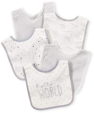 Baby Essentials Kyle & Deena (Newborn/Infants) 5-Pack Hello World Bibs Set