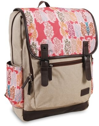 J World JWorld Franklin Laptop Backpack, Pink Forest